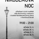 Nikodémova noc ve středu 14. dubna